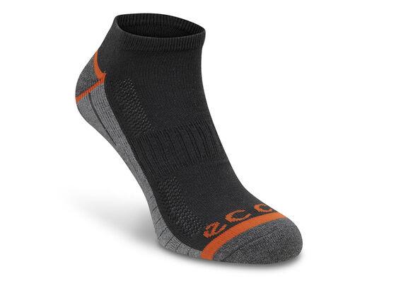 ECCO Mens Golf Sock 2 PK (BLACK/STEEL)