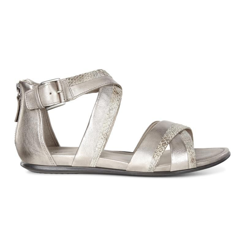 Womens Sandals ECCO Touch Ankle Strap Sandal Moon Rock/Moon Rock