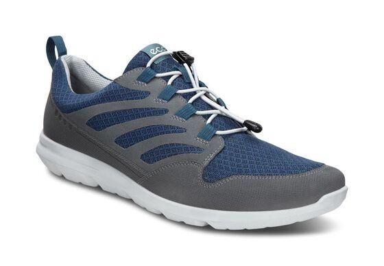 ECCO Mens Calgary Sneaker (DARK SHADOW/DENIM BLUE/BLACK)