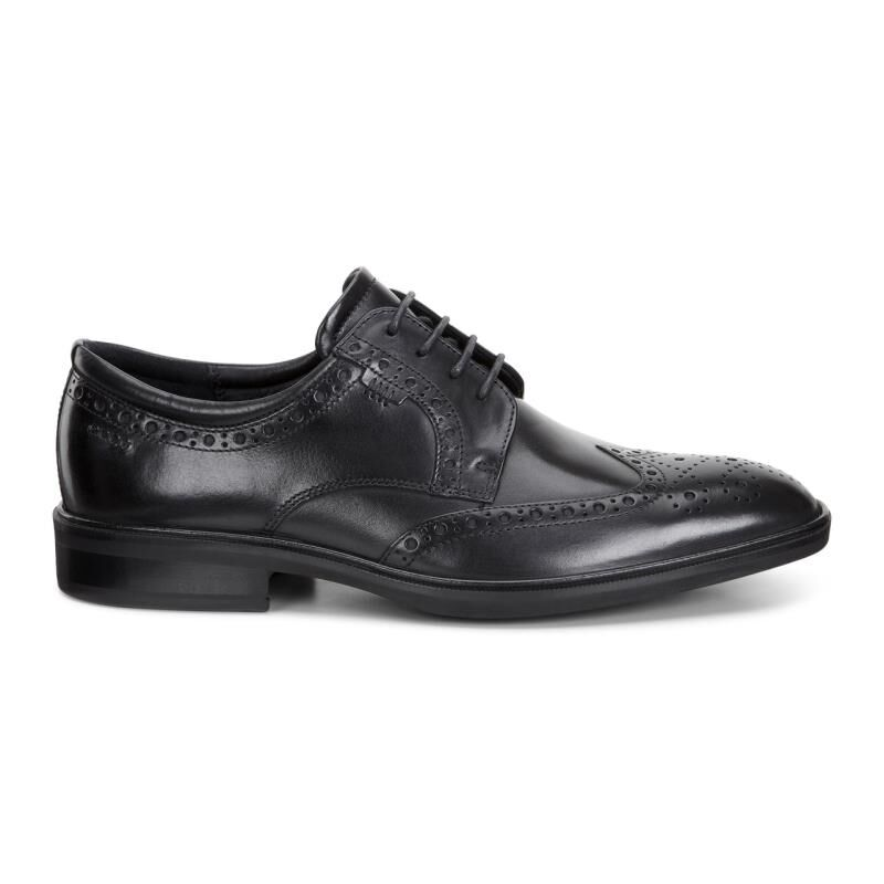 ... ECCO Illinois Wing Tip TieECCO Illinois Wing Tip Tie BLACK (01001) ...