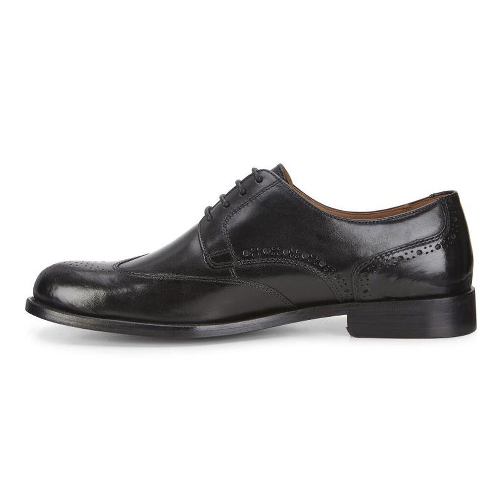 Ecco London Wing Tip Tieecco Tie In Black 01001