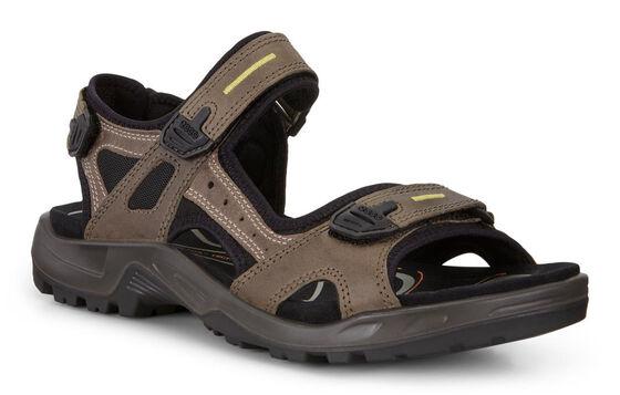 ECCO Mens Yucatan Sandal (TARMAC/MOON ROCK)