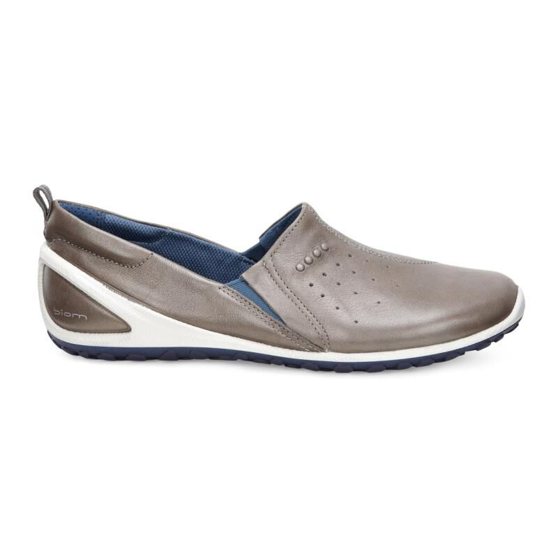 Womens Shoes ECCO Sport Biom Lite Slip On Warm Grey/Sea Port