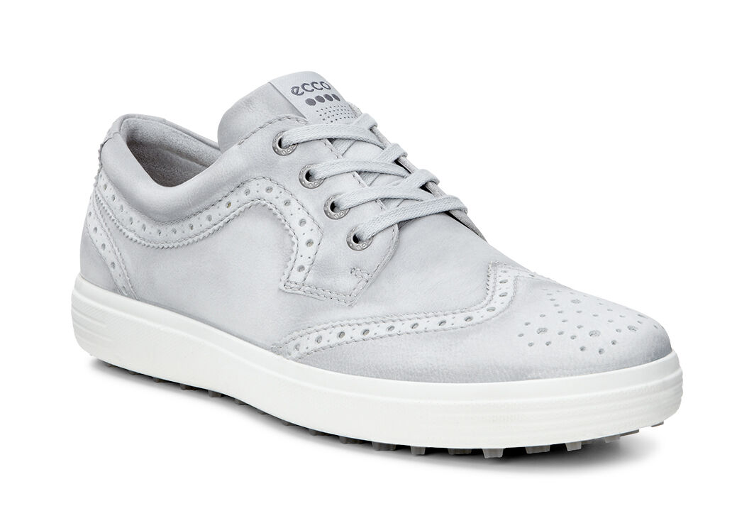 ECCO Golf - Casual Hybrid Wingtip (Concrete) Men's Golf Shoes