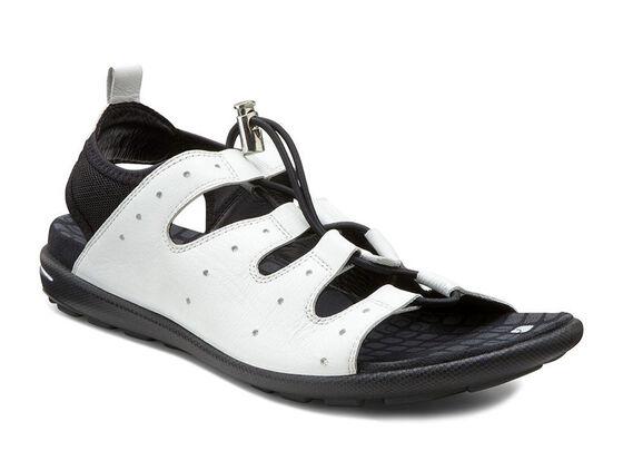 ECCO Jab Toggle Sandal (WHITE/BLACK)