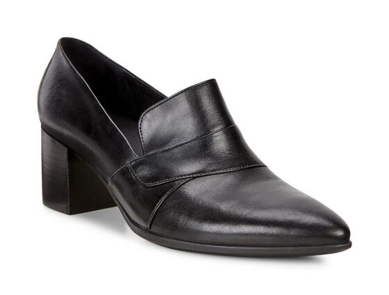 ECCO Shape 45 Heel Loafer (BLACK)