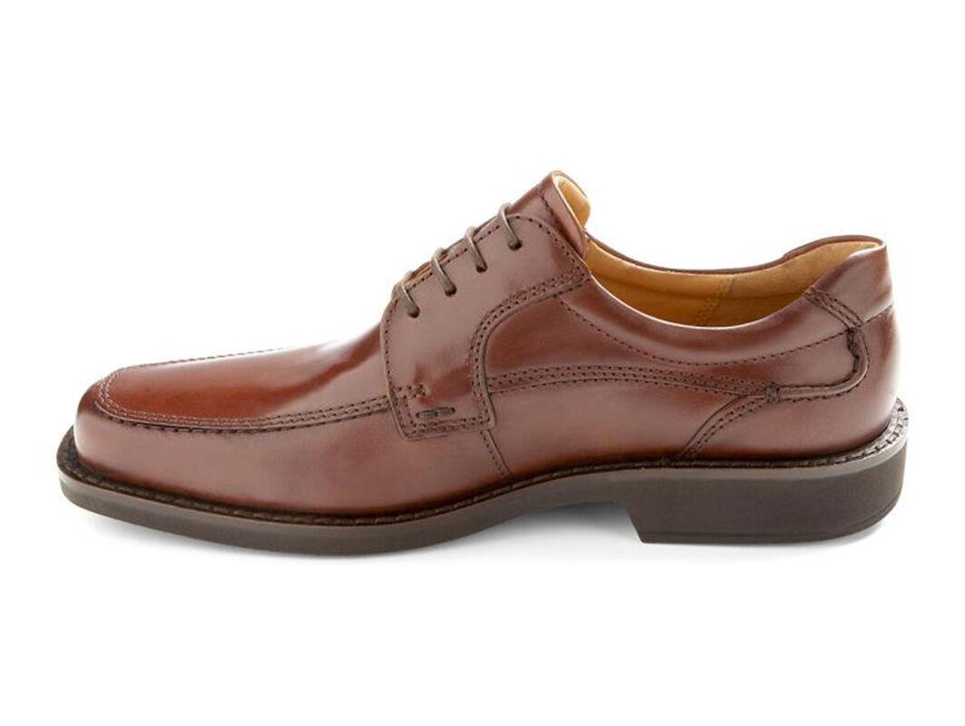 Men's ECCO Seattle Apron Toe Derby, Size: 44 M, Cognac Leather