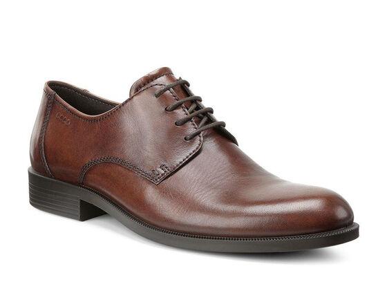 ECCO Harold Plain Toe Tie (COGNAC)