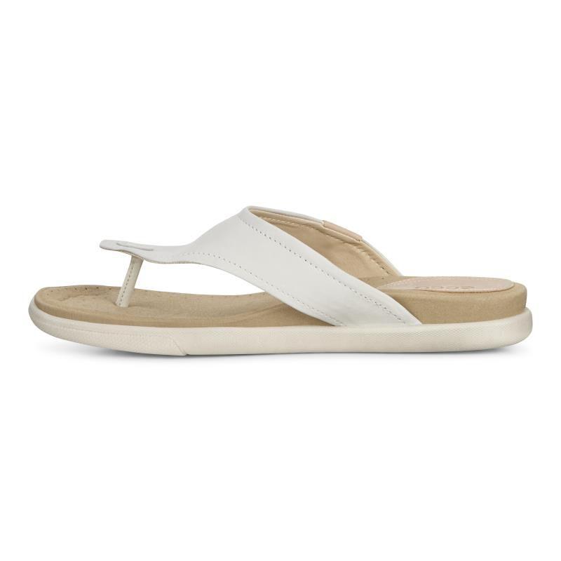 ... ECCO Damara Thong SandalECCO Damara Thong Sandal SHADOW WHITE (02152)  ...