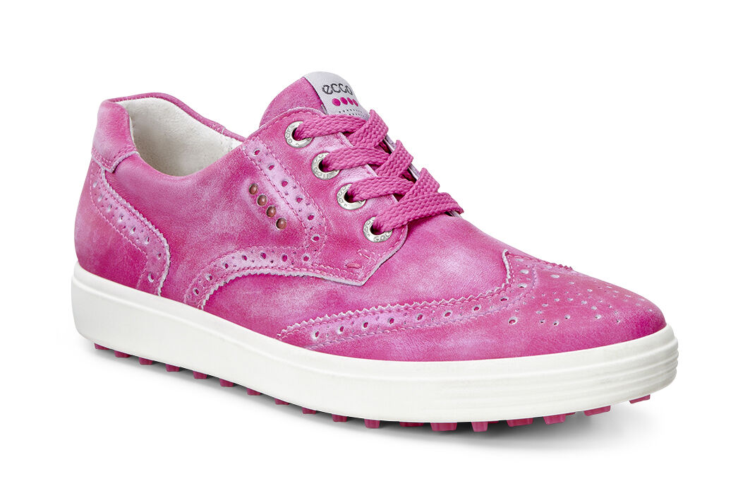 ECCO Golf - Casual Hybrid Wingtip (Candy) Women's Golf Shoes