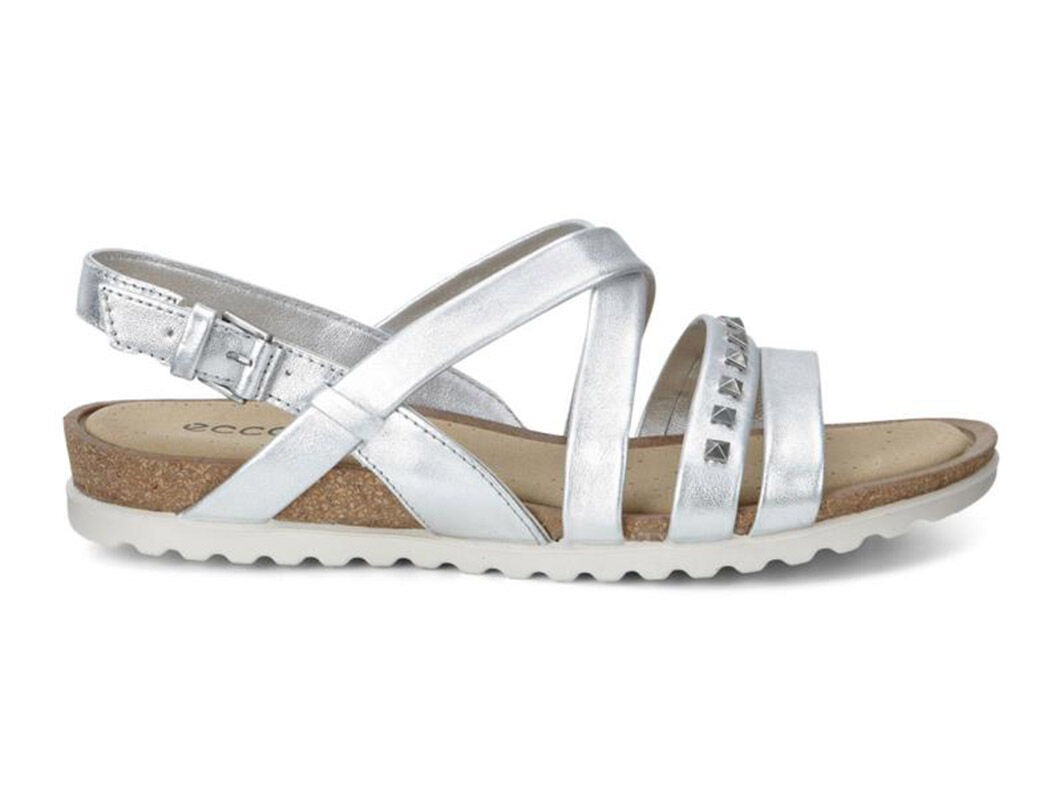 Womens Sandals ECCO Dagmar Cross Sandal Light Silver