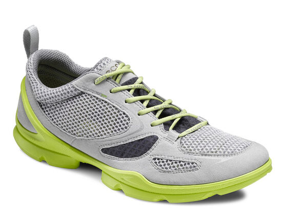 ECCO Mens BIOM EVO Race Lite (CONCRETE/DARK SHA./LIME PUNCH)