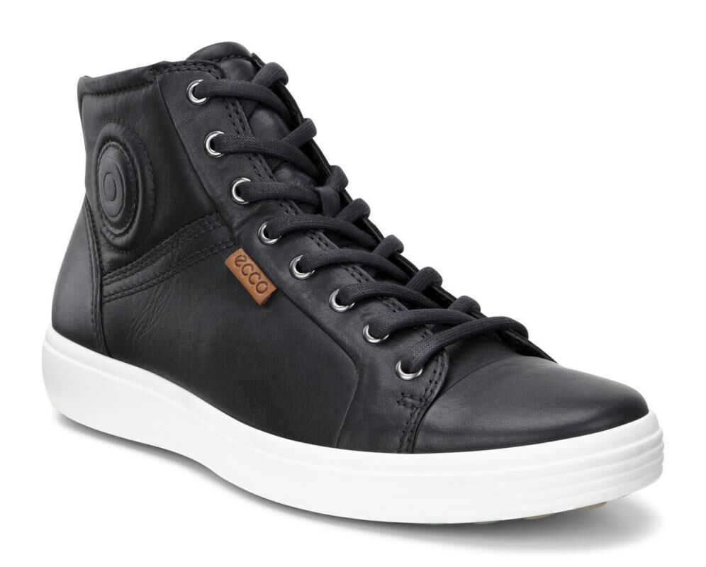 Video · ECCO Mens Soft 7 High TopECCO Mens Soft 7 High Top BLACK (01001) ...