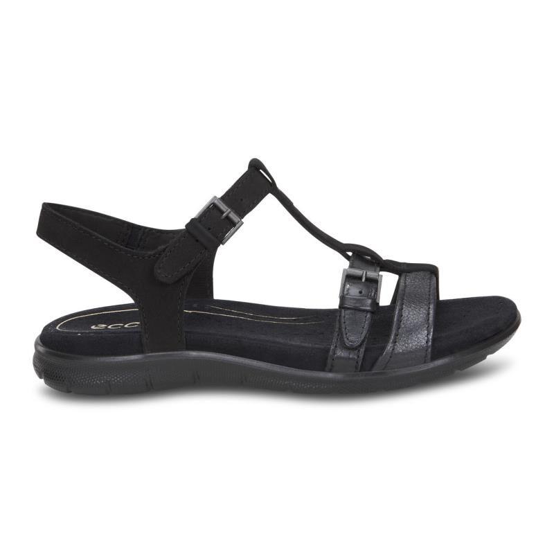 ecco black sandals womens