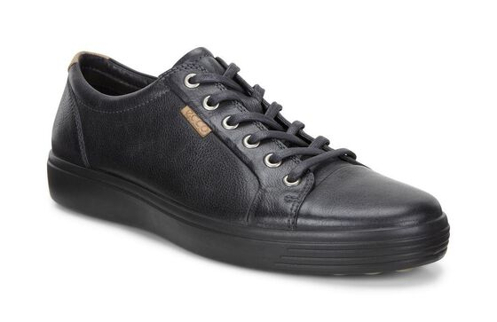 ECCO Mens Soft 7 Sneaker (BLACK/BLACK)
