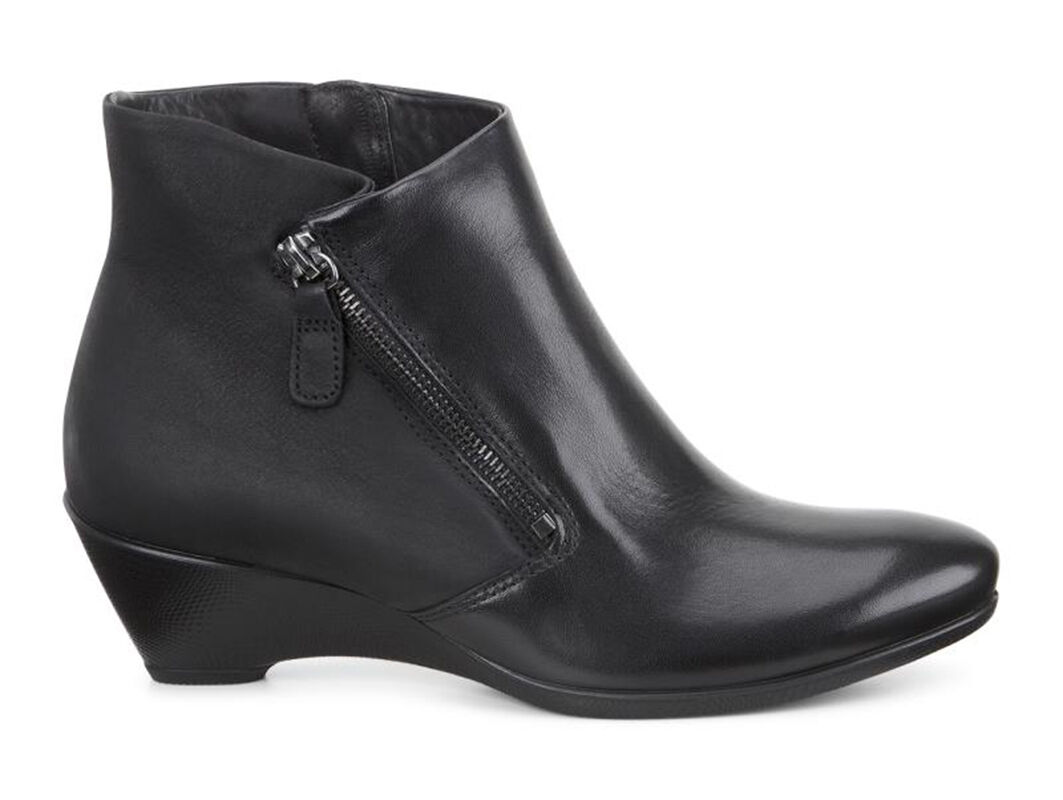 Womens Boots ECCO Sculptured 45 W Ankle Zip Black/Black