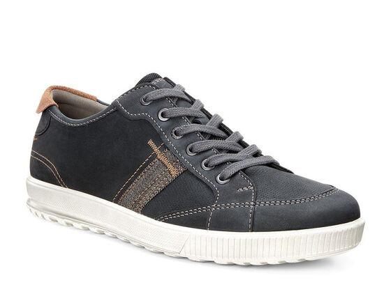 ECCO Ennio Retro Sneaker (BLACK/COGNAC)