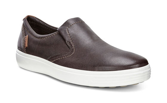 ECCO Mens Soft 7 Slip On (COFFEE)