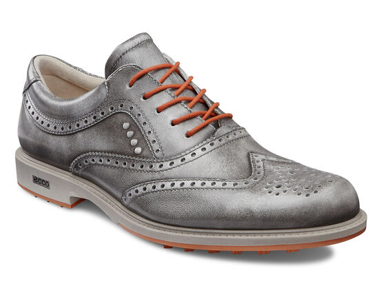 ECCO Mens Tour Hybrid Wingtip (GREY/ORANGE)