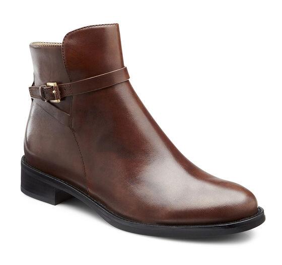 ECCO Hobart Strap Ankle Boot (MINK)