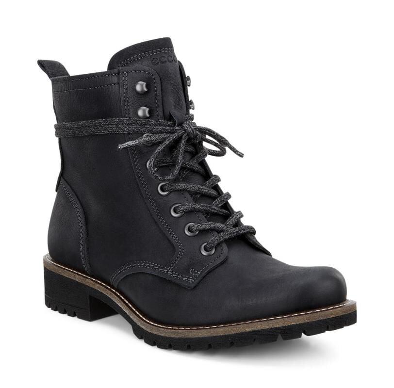 black ecco boots