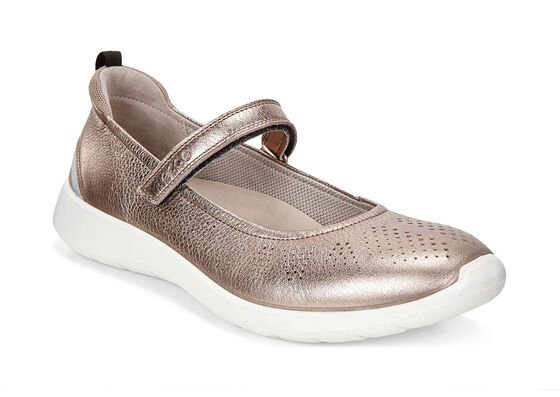 ECCO Soft 5 Mary JaneECCO Soft 5 Mary Jane in WARM GREY METALLIC/MOON ROCK (57462)