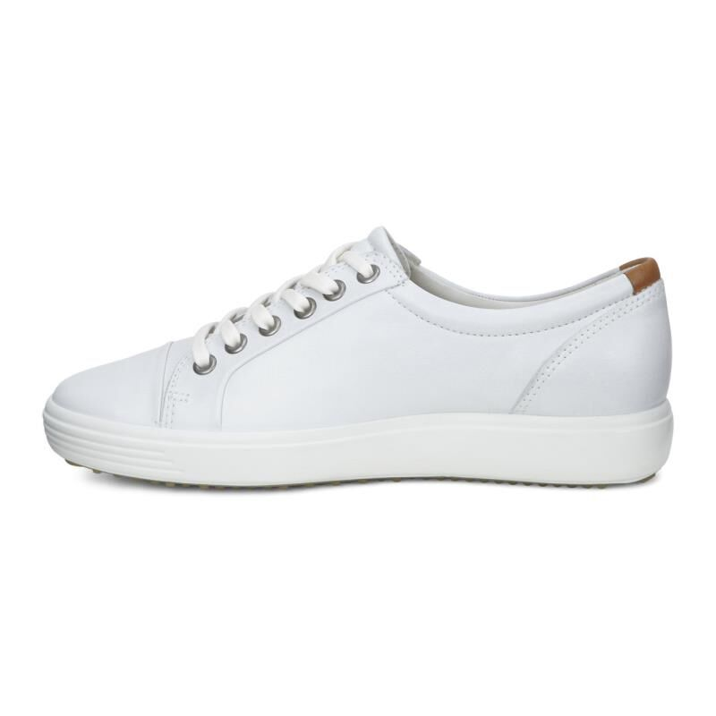 ECCO Women's Soft 7 Leather Cap Toe Sneakers hd3wh