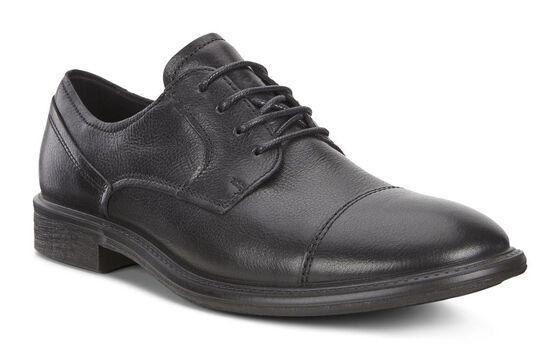 ECCO Knoxville Cap Toe Tie (BLACK)