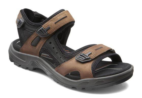 ECCO Mens Yucatan Sandal (BISON/BLACK/BLACK)