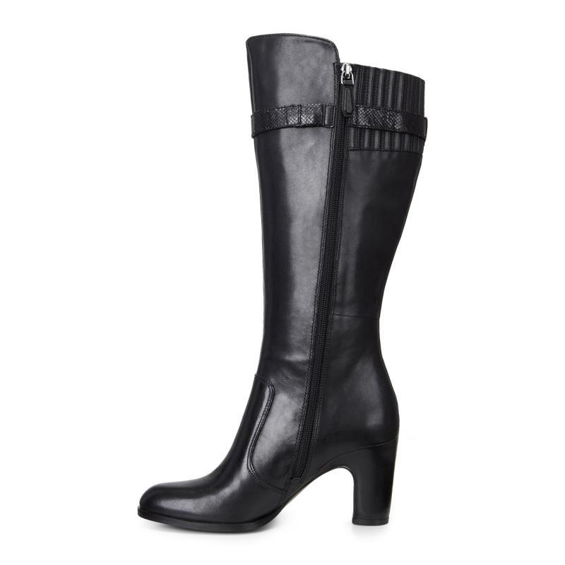 Womens Boots ECCO Solbjerg Tall Boot Black/Black