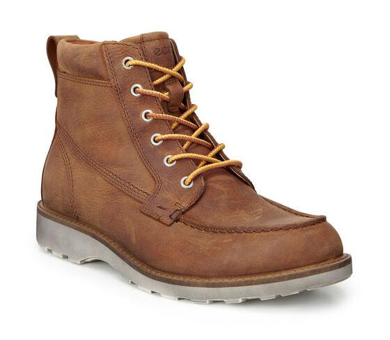 ECCO Holbrok Moc Toe Boot (AMBER)