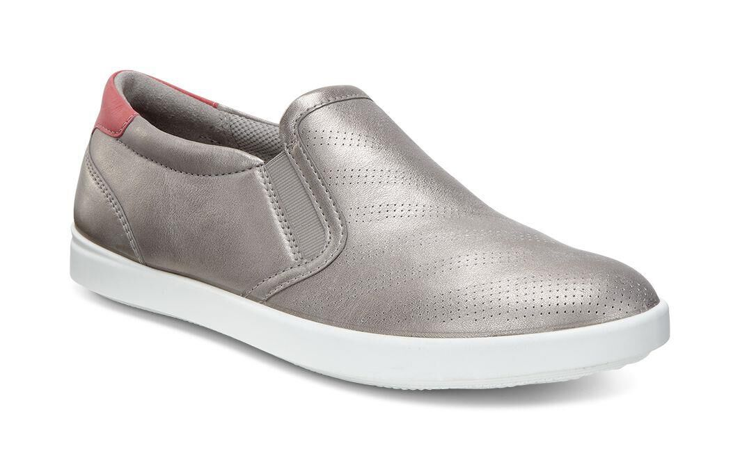 Good Sale Womens Shoes ECCO Aimee Casual Slip-On Moon Rock/Moon Rock