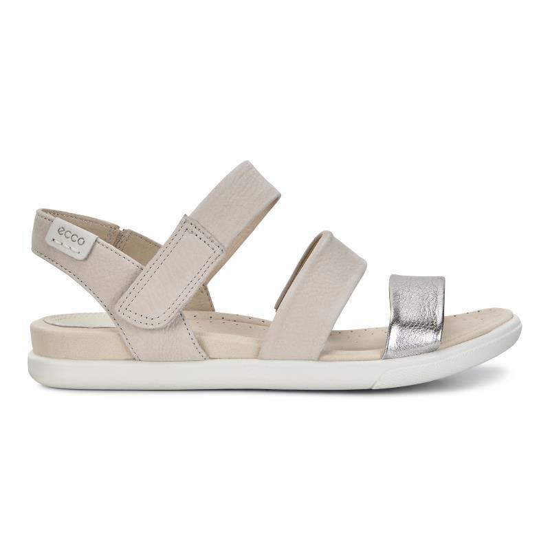 ecco DAMARA - Sandals - alusilver/gravel 7TTFH