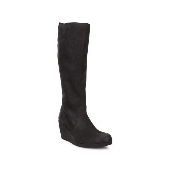 ECCO Bella Wedge Tall Boot (BLACK)