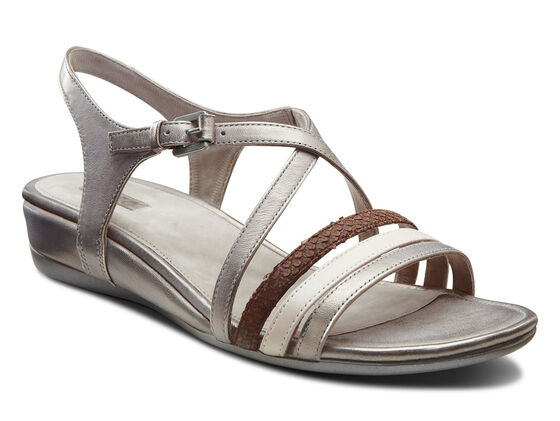 ECCO Touch Strap Sandal (MOON ROCK/ROSE DUST/COFFEE)