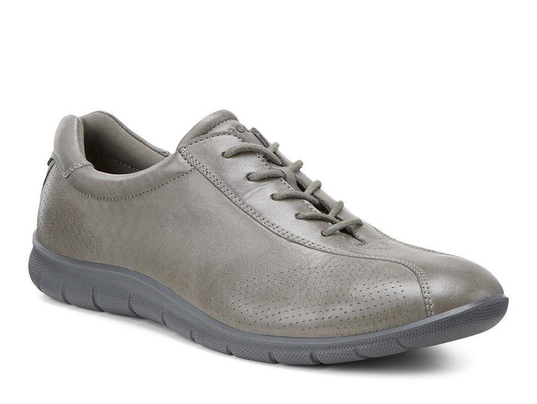 Ecco Babett Tie Womens Grey Sneakers
