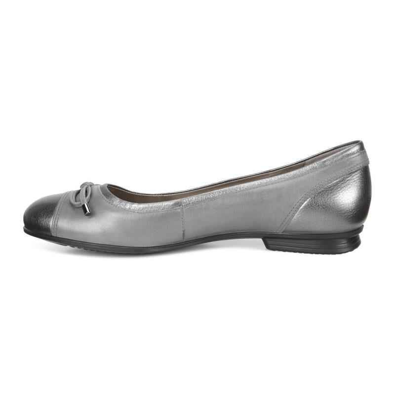 ... ECCO Touch Ballerina BowECCO Touch Ballerina Bow DARK SHADOW METALLIC/ TITANIUM (59528) ...