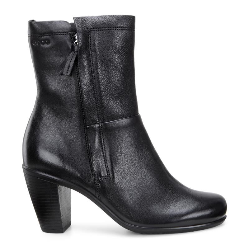 Womens Boots ECCO Touch 75 Zip Boot Black