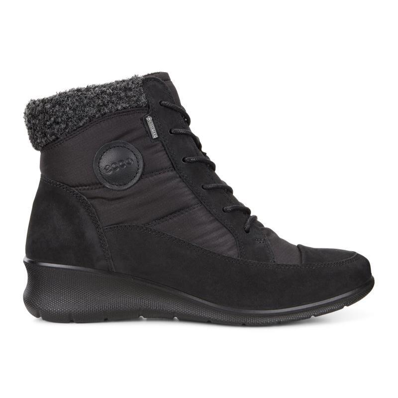 ... ECCO Babett Wedge Lace BootECCO Babett Wedge Lace Boot BLACK (12001) ...