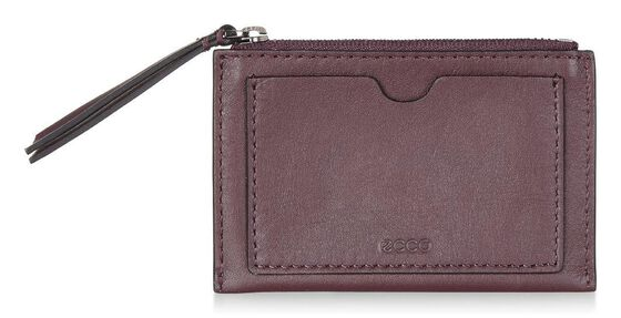 ECCO Sculptured Card Case (RUBY WINE)