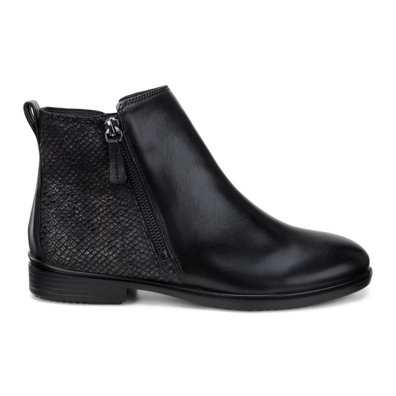 Womens Boots ECCO Touch 15 Scale Bootie Black/Black