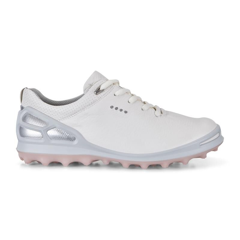 Ecco Golf Cage Pro White/Silver Pink 41 Womens PaIyX