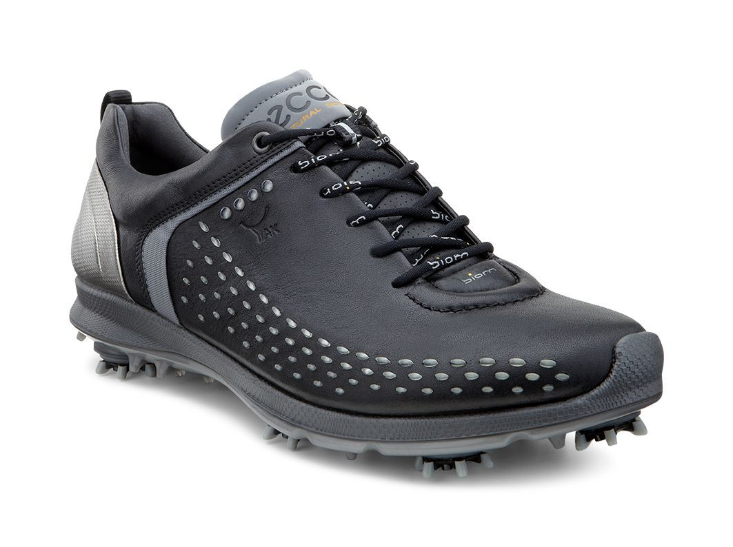Men's ECCO 'Biom' Hydromax Waterproof Golf Shoe, Size 6-6.5US / 40EU - Black