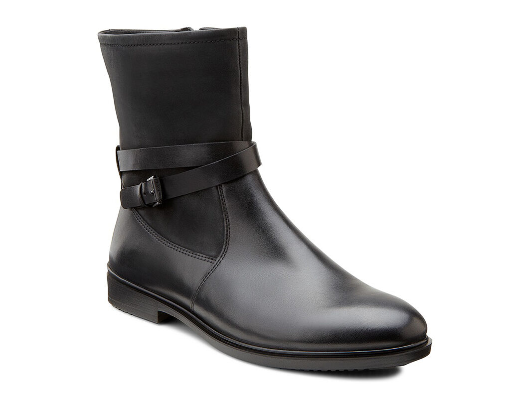 Ecco Boots Womens - Ecco Touch 15 Buckle Black