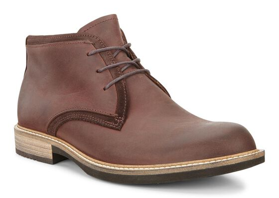 ECCO Kenton Derby Boot (MINK/MOCHA)