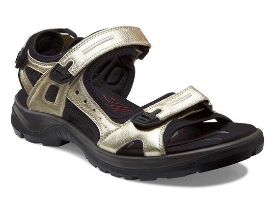 ECCO Womens Yucatan Sandal (LIGHT GOLD)
