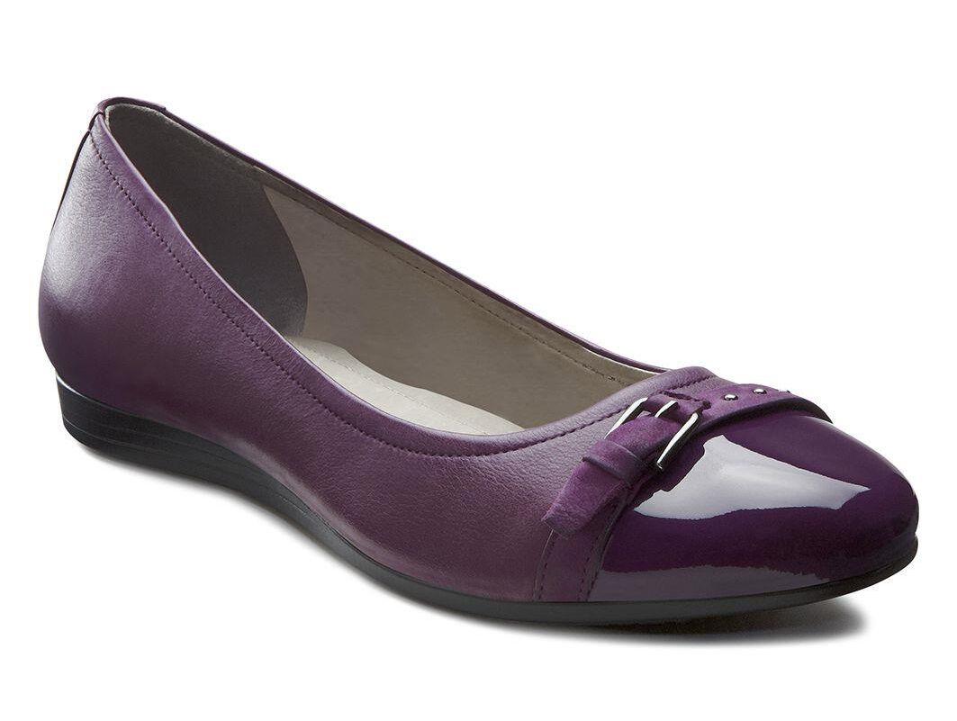 Womens Shoes ECCO Touch 15 Ballerina Burgundy/Burgundy