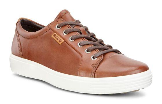 ECCO Mens Soft 7 Sneaker (MAHOGANY)