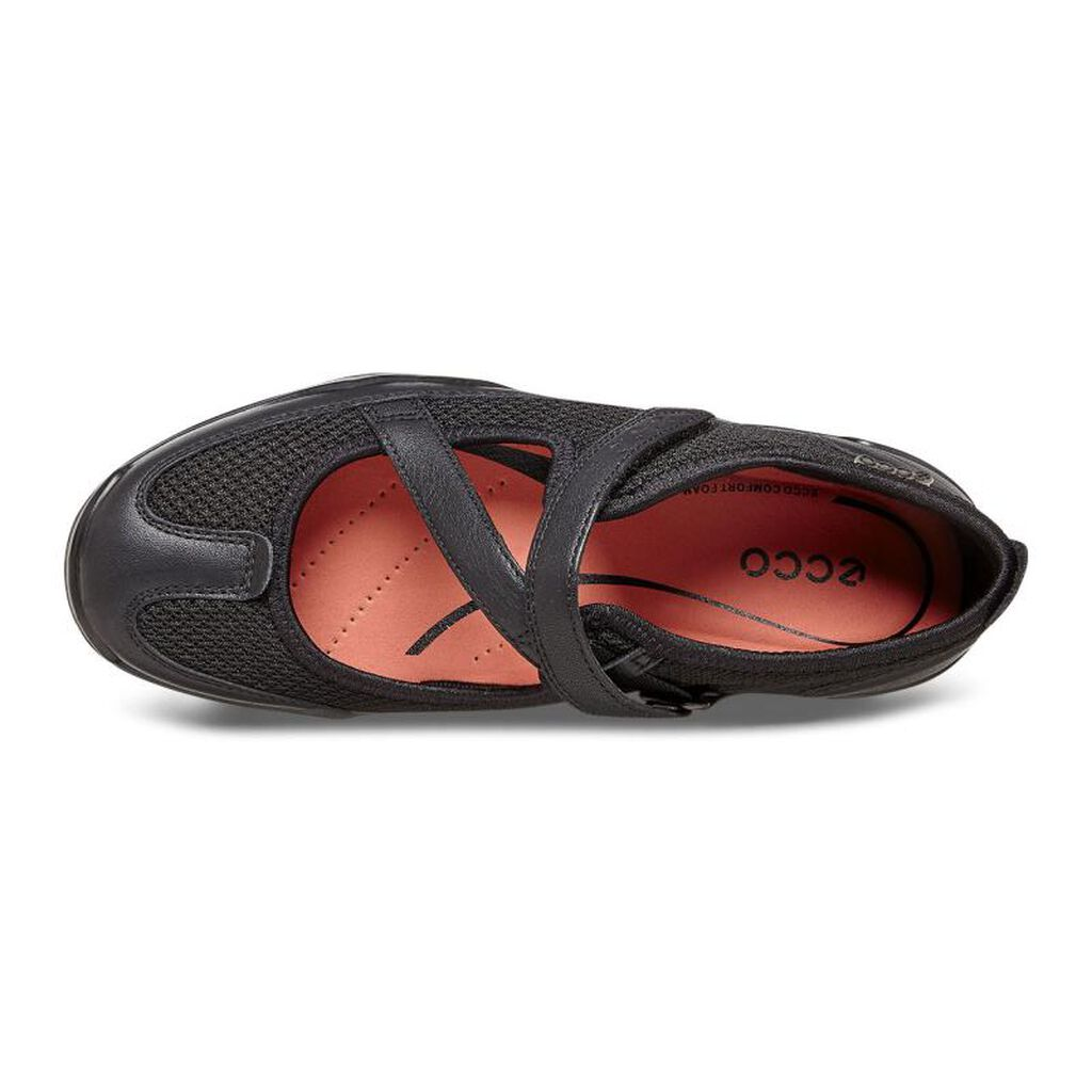 Ecco Black Flat Shoes