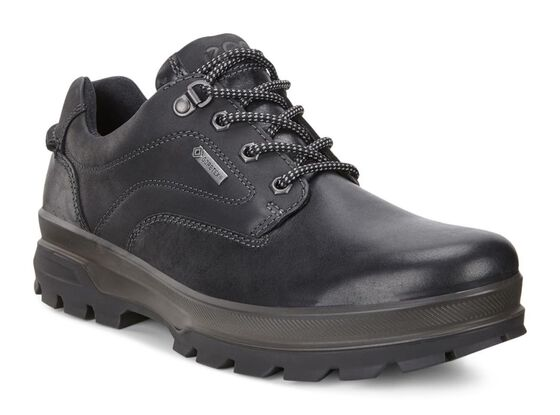 ECCO Mens Rugged Track GTX Tie (BLACK/BLACK)
